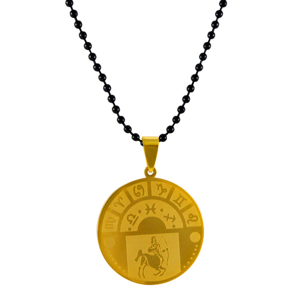 Sarah Sagittarius Sign Pendant Necklace for Men - Gold