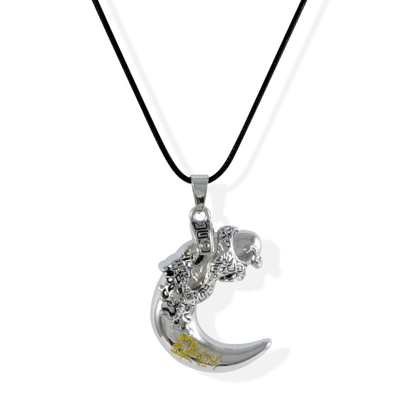 Sarah Dragon Pendant Necklace for Men - Silver