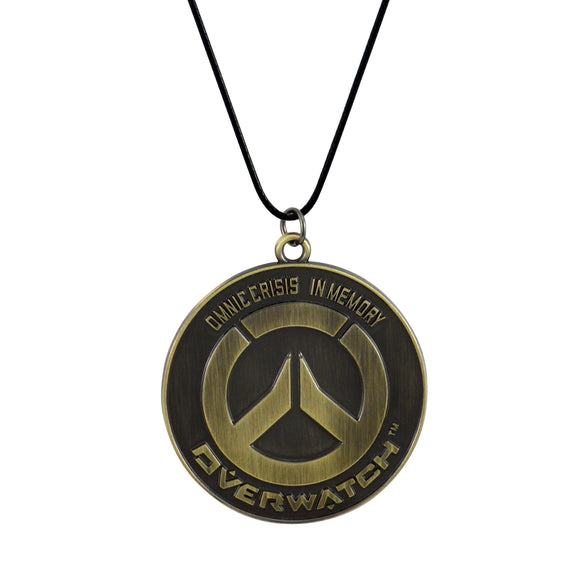 Sarah Overwatch logo Pendant Necklace for Men - Gold