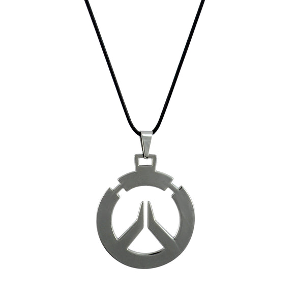 Sarah Overwatch logo Pendant Necklace for Men - Silver Color