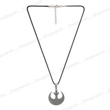 Sarah Moon Symbol Pendant Necklace for Men - Silver Color