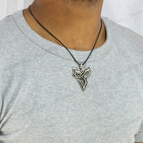 Sarah Fox Symbol Pendant Necklace for Men - Silver Color