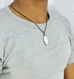 Sarah hypnosis Shape Pendant Necklace for Men - Silver Color