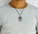 Sarah Bastion Shape Pendant Necklace for Men - Silver