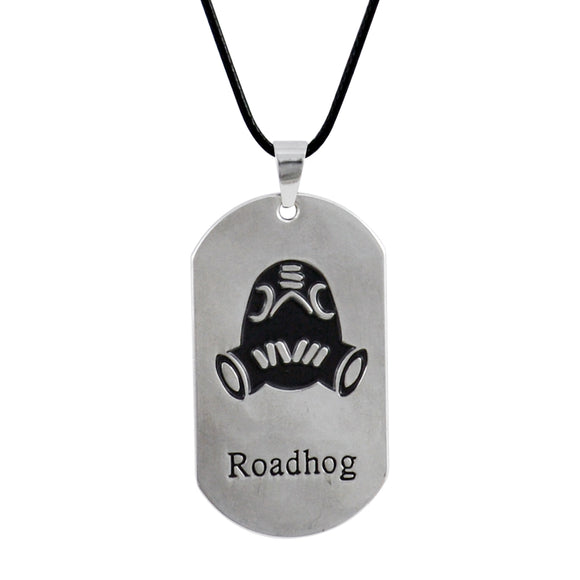 Sarah Roadhog Face Pendant Necklace for Men - Silver
