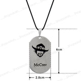 Sarah McCree Face Pendant Necklace for Men - Silver