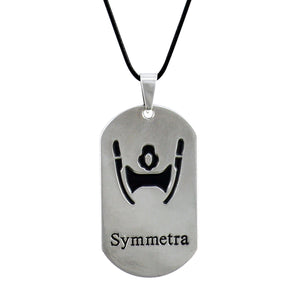 Sarah Symetra Face Pendant Necklace for Men - Silver