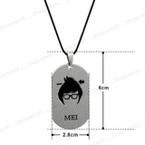 Sarah MEI Character Face  Pendant Necklace for Men - Silver