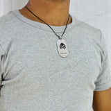 Sarah Widowmaker Pendant Necklace for Men - Silver