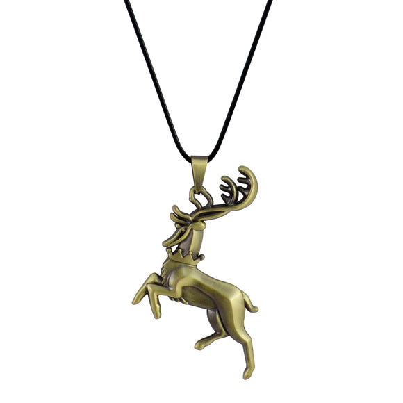 Sarah Deer Pendant Necklace for Men - Gold