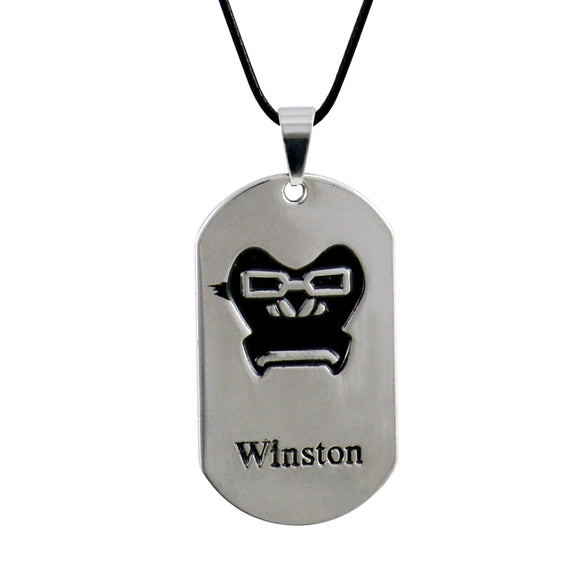 Sarah Winstone Face  Pendant Necklace for Men - Silver