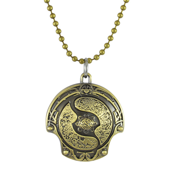 Sarah DOTA 2 Shield Logo Pendant Necklace for Men - Gold
