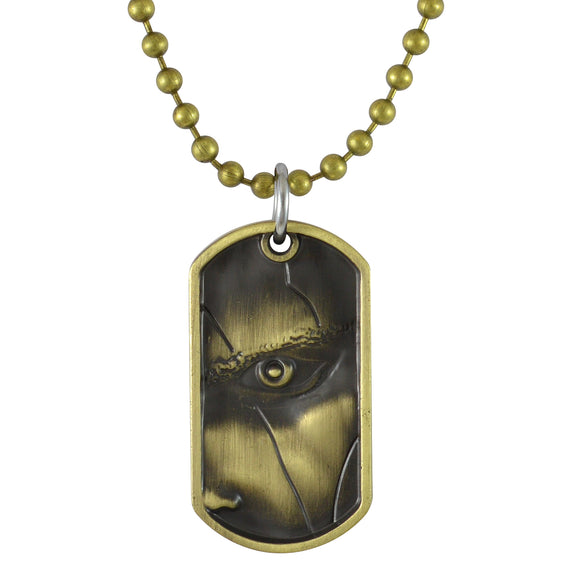 Sarah God Of War Pendant Necklace for Men - Gold