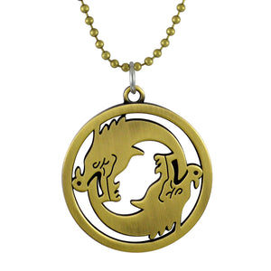 Sarah Warcraft Overwatch Dragon Logo Pendant Necklace for Men - Gold