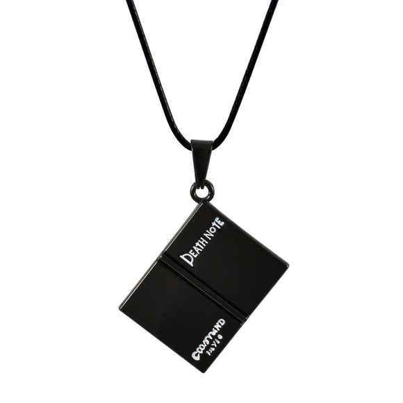 Sarah Death Note Pendant Necklace for Men - Black