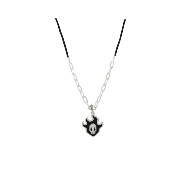 Distinctive Design Black Flame Pendant Men Necklace from Sarah