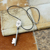 Stainless Steel Key Pendant Necklace