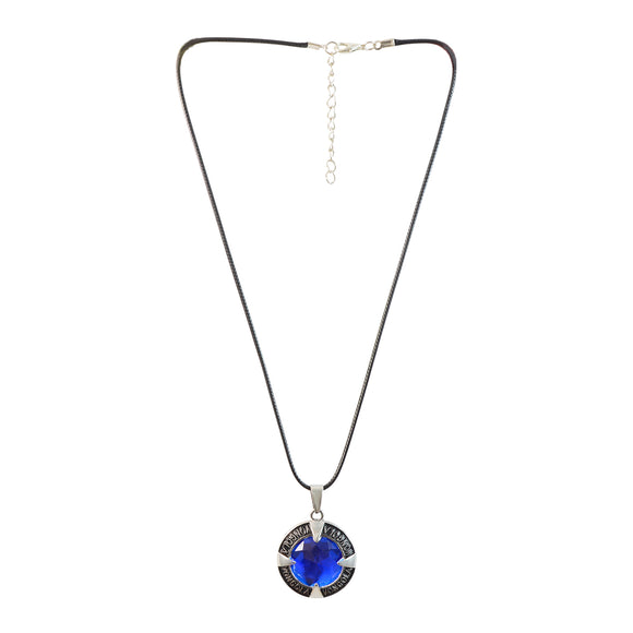 Fancy Round Gemstone Pendant Chain Necklaces Anime