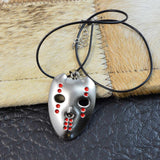 Chrome Finish Halloween Jason Mask Mens Necklace Pendant by SARAH