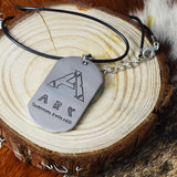 Stainless Steel Finish Ark Survival Dog Tag Necklace by SARAH