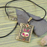 Sarah Antique Finish Bunny Face Pendant Necklace for Girls and Boys