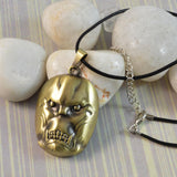Sarah Antique Finish Demon Face Pendant Necklace for Men