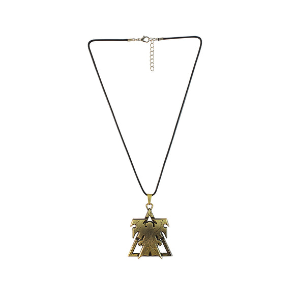 Sarah Brass Finish Open Wings Eagle Pendant Necklace for Men