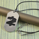 Sarah Fashion PayDay 2 Steel Finish Dog Tag Pendant Necklace for Men