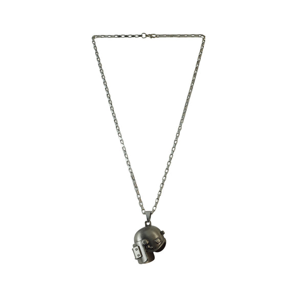 Sarah PUBG Level 3 Helmet Gun Metal Necklace for Girls and Boys