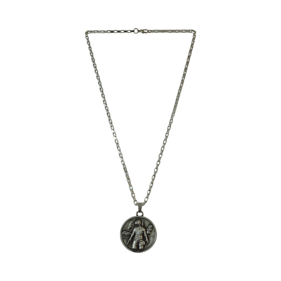 Sarah Playerunknown's Battlegrounds PUBG Invitational Pendant Necklace for Men (gun metal grey)
