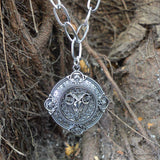 Sarah Ram on Medallion Oxidised Pendant Necklace for Men