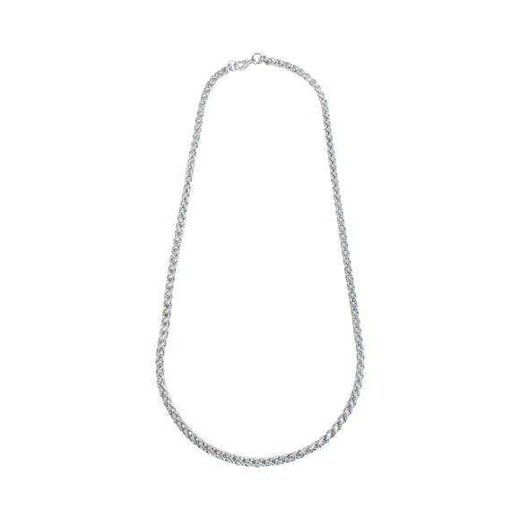 Sarah Stainless Steel Elegant Statement Silver Finish Chain for Boys & Men