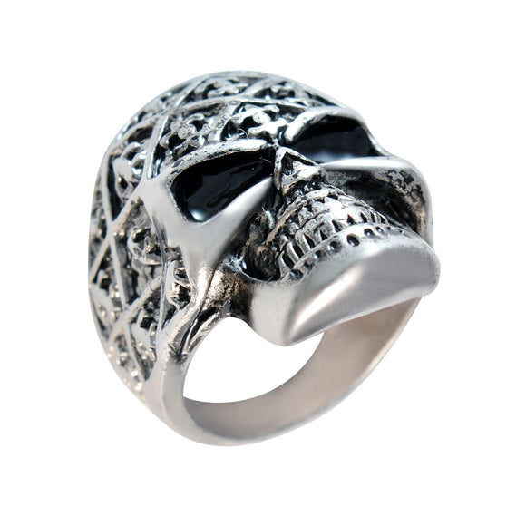 Sarah Skeleton Finger Ring for Men - Silver