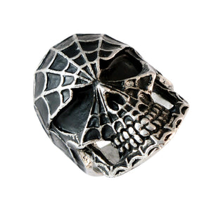 Sarah Spiderman Skull Finger Ring for Men - Silver