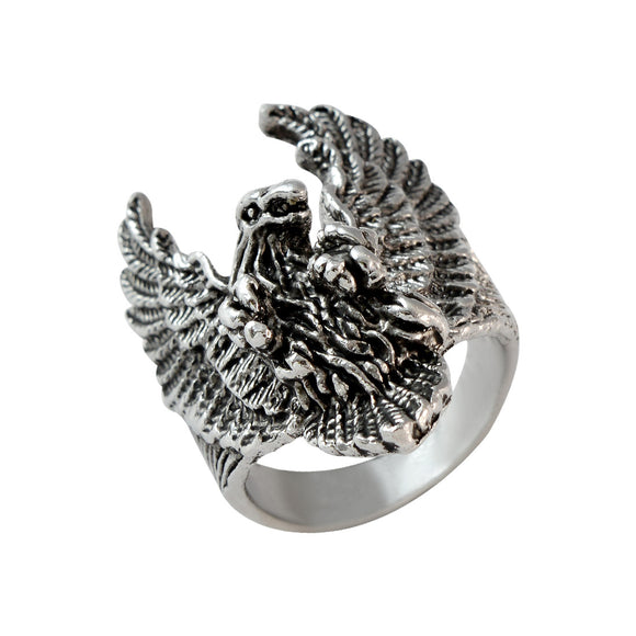 Sarah Flying Eagle Finger Ring for Men - Silver