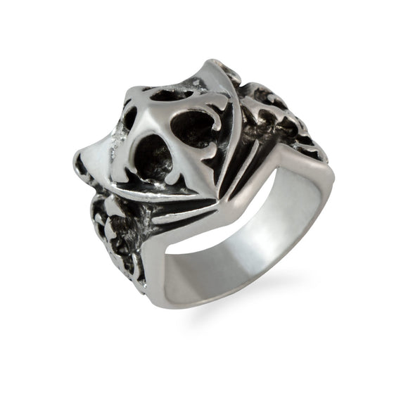 Sarah Shield Sword Finger Ring for Men - Silver
