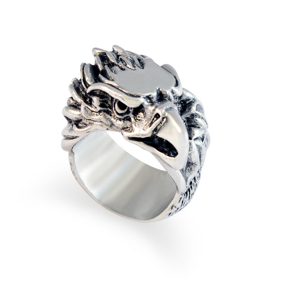 Sarah Eagle Head Finger Ring for Men - Silver
