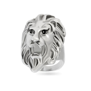 Sarah Lion Head Finger Ring for Men - Silver