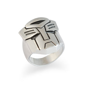 Sarah Autobot Finger Ring for Men - Silver