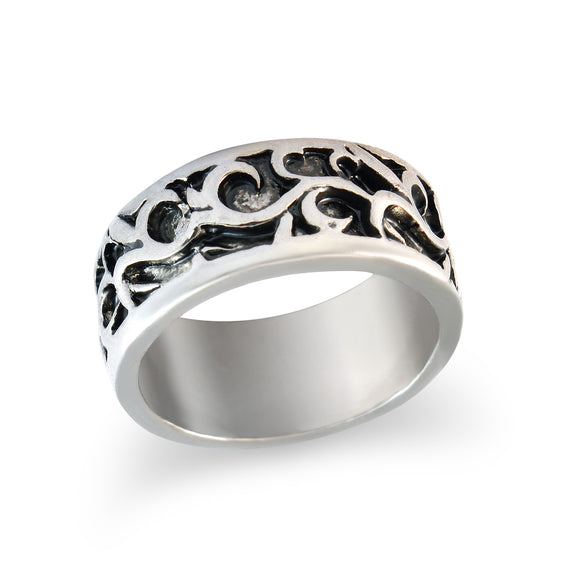 Sarah Curvy Design Finger Ring for Men - Silver