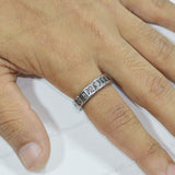 Sarah Cross Design Finger Ring for Men - Silver
