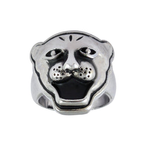 Sarah Panther Face Finger Ring for Men - Silver