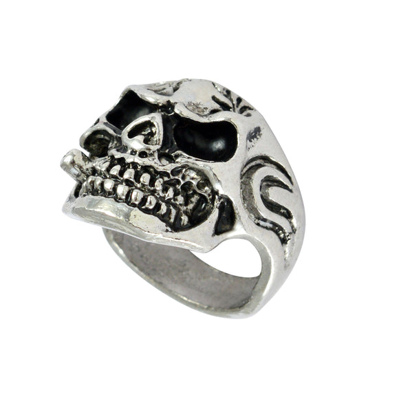 Sarah Skull Finger Ring for Men - Silver