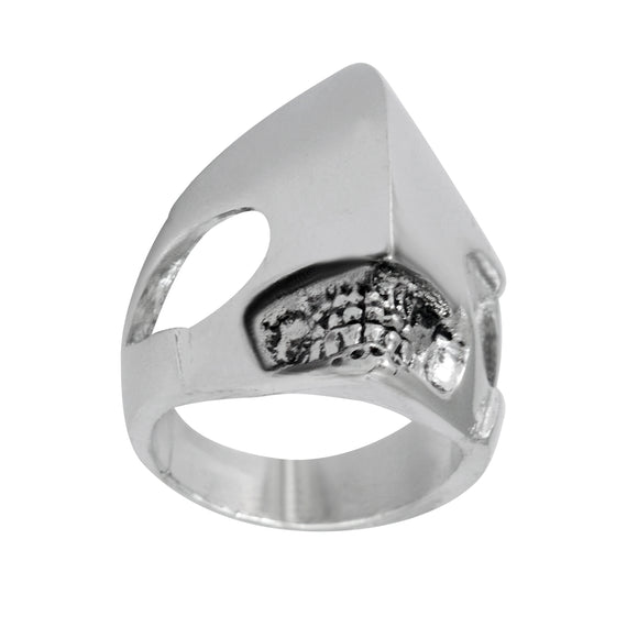 Sarah Abstract Face Finger Ring for Men - Silver