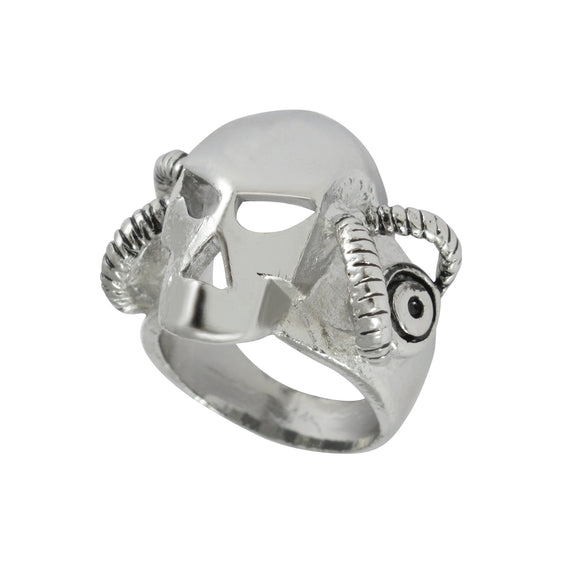 Sarah Demon with Horns Finger Ring for Men - Silver