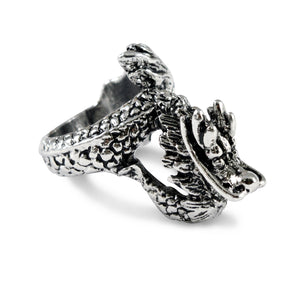 Sarah Dragon Finger Ring for Men - Silver