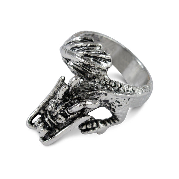 Sarah Chinese Dragon Finger Ring for Men - Silver