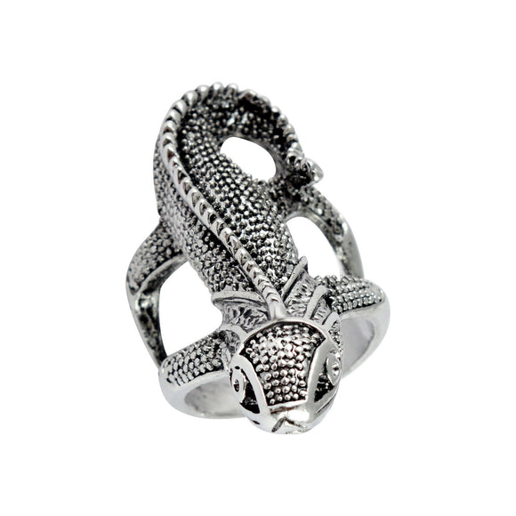 Sarah Lizard Finger Ring for Men - Silver