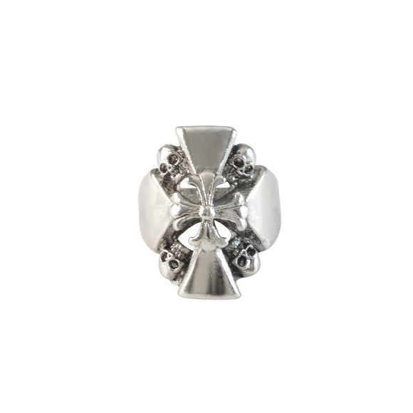 Sarah Cross with Skulls Finger Ring for Men