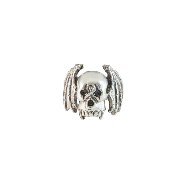 Sarah Winged Skull Biker Ring for Men